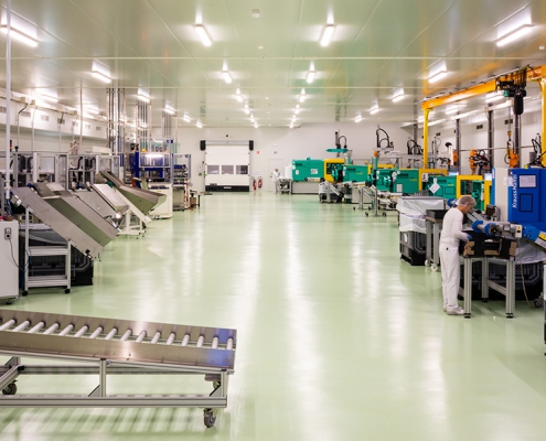 Salle blanche, zone de production, HTP europe